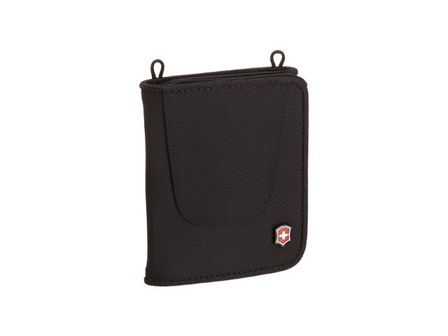 Billetera: VICTORINOX – Deluxe Black Travel Wallet